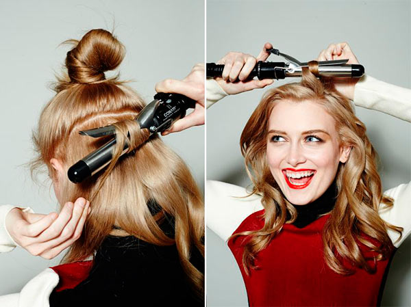 Fab DIY Updo Tutorials Using a Curling Iron