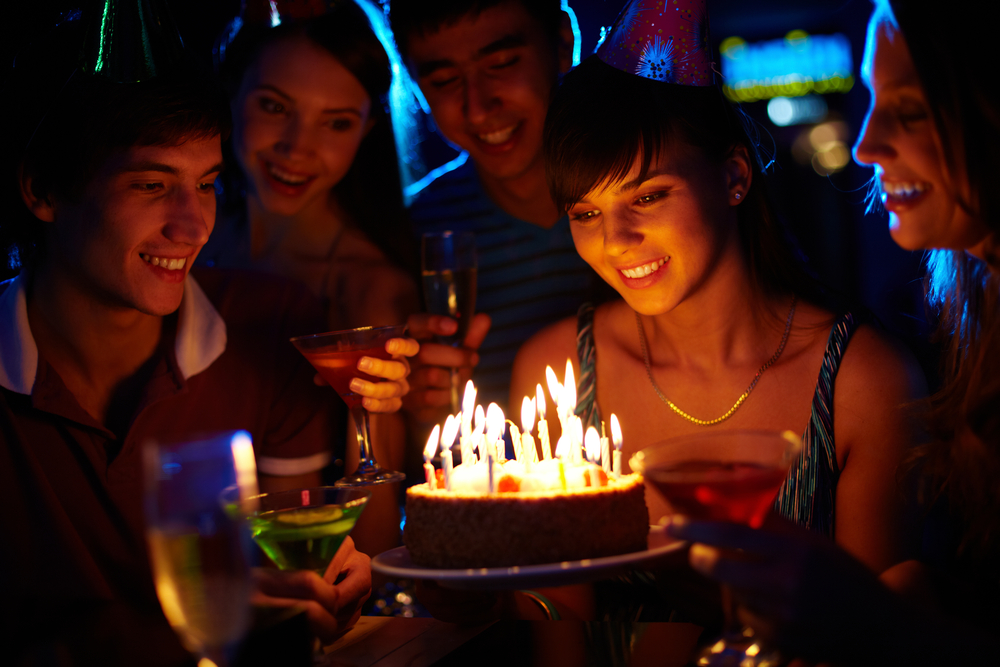 Teen celebrating birthday